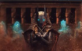 Обои дух, призрак, фараон, Египет, руины, мумия, Бог, mummy, Anubis, Анубис