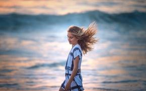 Картинка ветер, девочка, Edie Layland