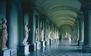Обои колонна, музей древностей Густава Третьего, Королевский дворец, Стокгольм, Швеция, скульптура