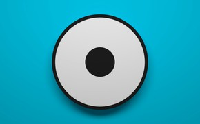 Обои цилиндр, кольцо, круг, фон, глаз