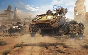 Картинка горы, пустыня, автомобили, Dawn's Children, Crossout 0.8.0