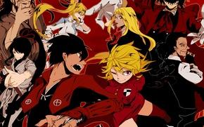 Картинка sword, Hellsing, anime, man, crossover, ken, vampire, blade, samurai, asian, bow, Alucard, japanese, arrow, bushido, …