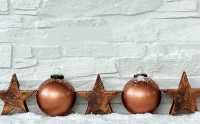 Картинка звезды, шары, свечи, Новый Год, Рождество, merry christmas, decoration, xmas, holiday celebration
