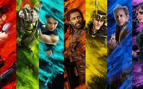 Обои постер, Jeff Goldblum, Тесса Томпсон, комикс, Джефф Голдблюм, Hela, Tessa Thompson, Thor: Ragnarok, MARVEL, Grandmaster, ...