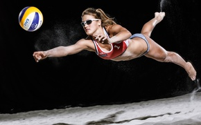 Картинка девушка, спорт, мяч