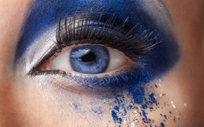 Картинка blue, eyes, model, make up