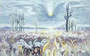 Картинка Charles Ephraim Burchfield, 1952-58, Fading November Sun