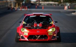 Обои двигатель, тюнинг, фотограф, Ferrari, вид спереди, мотор, Toyota GT86, Larry Chen, Engined
