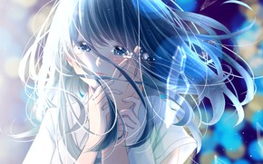 Картинка девушка, слезы, боке