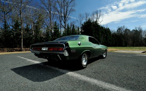 Картинка green, Dodge Challenger, muscle classic