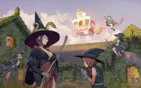 Картинка hat, anime, school, asian, manga, sensei, witch, oriental, asiatic, teacher, magician, mahou, carriage, japonese, Little …