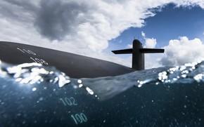 Обои армия, флот, подводная лодка