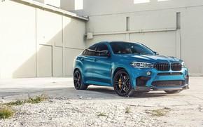 Картинка BMW, Blue, X6M, Sight, F86