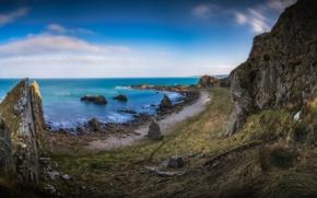 Картинка скалы, побережье, Шотландия, Scotland, Cullen