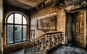 Обои фон, лестница, дом