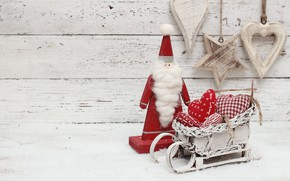 Картинка украшения, игрушки, Новый Год, Рождество, сердечки, happy, Christmas, wood, hearts, New Year, Merry Christmas, Xmas, …