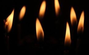 Обои фон, огонь, свечи