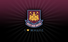 Картинка wallpaper, sport, logo, football, West Ham United