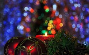 Обои фон, праздник, новый год, елка, игрушка, пара