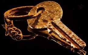 Картинка макро, ключ, ржавчина
