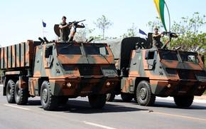 Картинка soldier, Brazil, .50, machine gun, armed forces, Brazilian army, Brazilian company, Artillery SaTuration ROcket System, ...