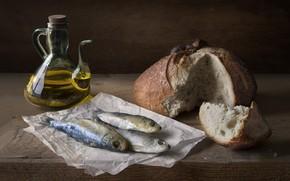 Картинка масло, рыба, хлеб