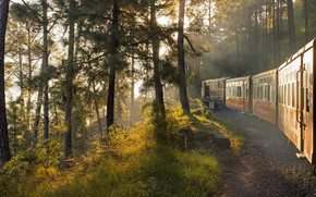 Картинка поезд, Индия, вагон, железная дорога, Калка-Шимла