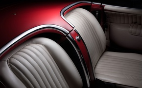 Картинка кожа, изгибы, кресла, формы, салон, ретро автомобили, fine art photography, 1954 Corvette