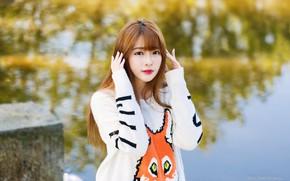 Картинка photo, милая девушка, asian girl, милая азиатка, Xin Xin, Fei, Ксин Ксин