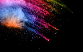Обои брызги, фон, краски, черный, colors, colorful, abstract, splash
