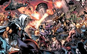 Картинка комикс, comics, Капитан Америка, Marvel Comics, Веном, Ares, Арес, Осада, Меченый, iron patriot, Taksmasters, таксмастер, ...