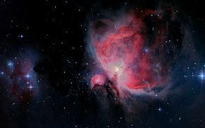 Обои туманность, звезды, Orion Nebula, красота