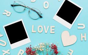 Картинка Цветы, Фото, Сердечки, Буквы, Праздник, День влюбленных