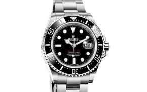 Обои The Rolex Oyster Perpetual Sea-Dweller Ref, watch, фон белый, время, стрелки, хронометр, Rolex, часы