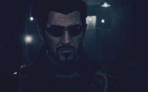 Картинка Square Enix, Deus Ex, Адам Дженсен, Adam Jensen, Киберпанк, Eidos Montreal, Cyberpunk, Deus Ex Mankind …