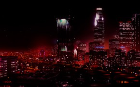 Картинка city, game, night, Grand Theft Auto V, GTA V, GTA 5