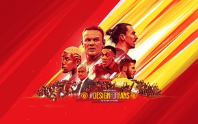 Картинка wallpaper, sport, football, Manchester United, fans, coach, players