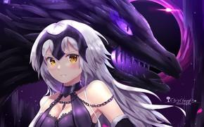 Картинка девушка, дракон, аниме, арт, Fate Grand order