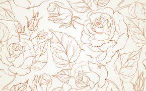 Обои цветы, текстура, background, rose, бутоны, seamless