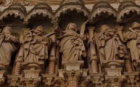 Картинка архитектура, мрамор, апостолы, статуи