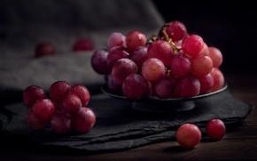 Картинка макро, ягоды, еда, виноград, грона