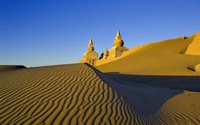 Обои замок, песок, пустыня, небо
