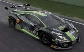 Картинка гонка, трасса, Lamborghini, Project Cars 2