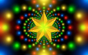 Картинка фон, звезда, яркая