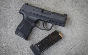 Картинка пистолет, обойма, Sig P365