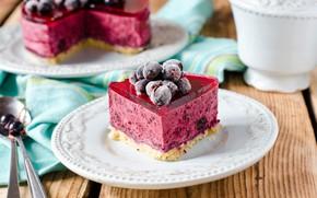 Обои ягоды, торт, желе, десерт