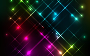 Обои background, rainbow, colors, огни, lights, фон, неоновый, neon, abstract
