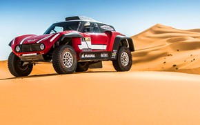 Картинка Песок, Красный, Mini, Пустыня, Rally, Dakar, Дакар, Ралли, Дюна, Buggy, Багги, X-Raid Team, MINI Cooper, …
