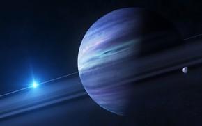 Обои планета, солнечная система, спутник, Юпитер