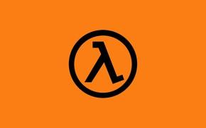 Картинка Orange, Half Life, Valve, Logo, 1998, Minimalism, Lambda